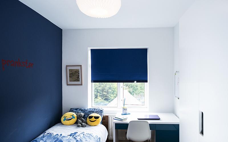 Blue Room_interior design for autistic children_Childrens interior designer LondonFarrow and Ball Drawing Room Blue_MK Kids Interiors