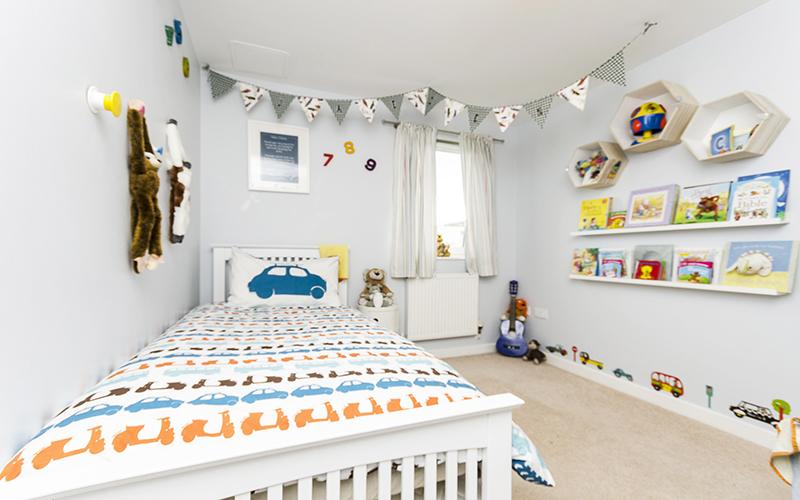 Jaedens Bedroom, Boy's bedroom with numbers