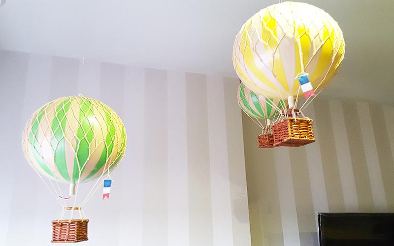 Minature hot air balloons kids bedroom designer chelsea london childrens bedroom design
