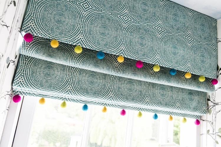 Pom-pom Blinds_Multicoloured Pom-poms_felt ball garlands_kids blinds-MK Kids Interiors