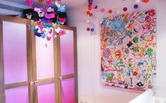 bespoke wardrobe for kids rooms_childrens interior designer london_colourfult nursery_ pink room_baby girls bedroom_nursery designer
