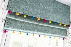 Pom-pom Blinds_Multicoloured Pom-poms_felt ball garlands_kids blinds-MK Kids Interiors