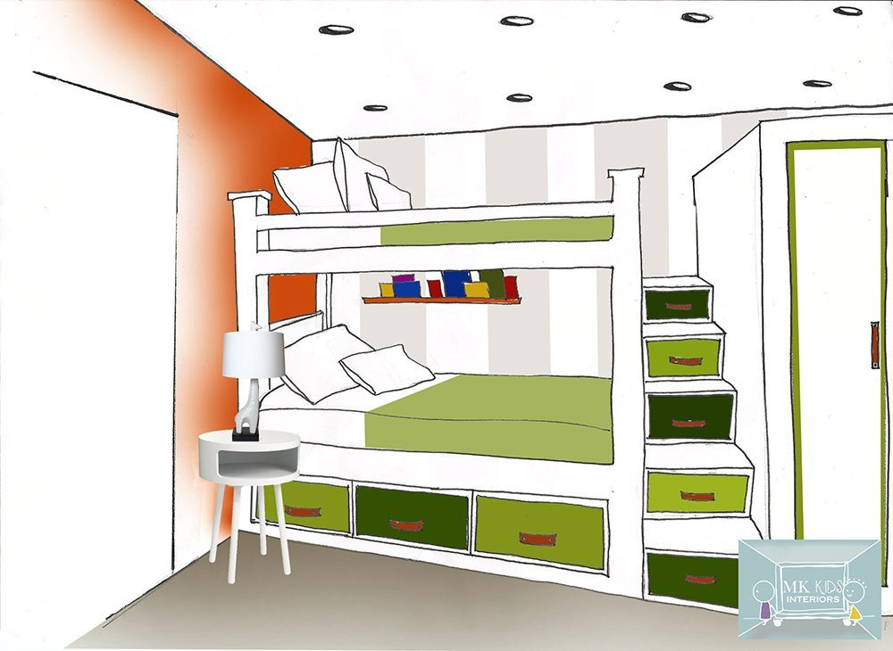 Kids Bedroom Drawing children's interiors: hani's bedroom - mk kids interiors