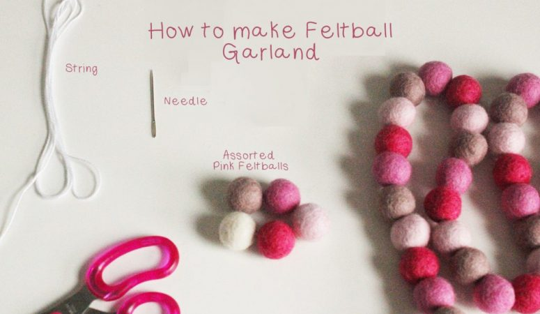 How to make a felt ball garland