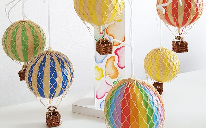 Hot Air Balloon Mobiles Christmas room decor