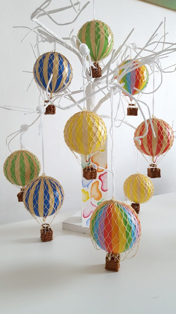 Authentic Model Hot Air Balloon Mobile - MK Kids Interiors
