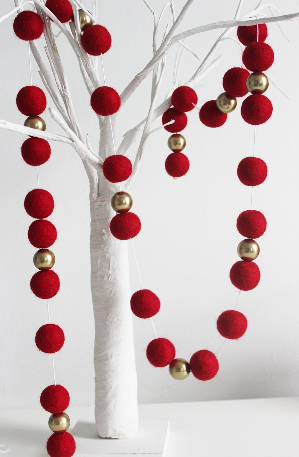 200cm Felt Ball Christmas Garland Luxury Christmas Garland