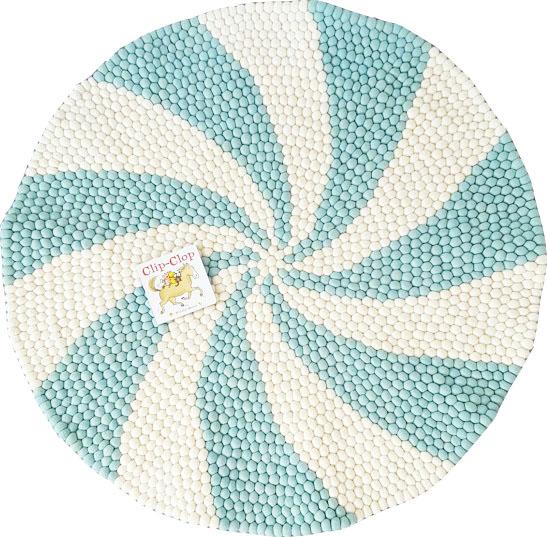 Blue U0026 White Round Rug ...
