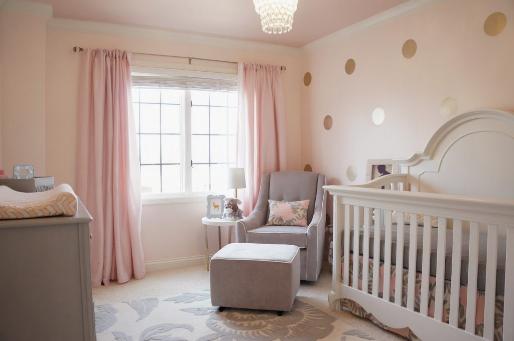 Gray And Purple Baby S Room