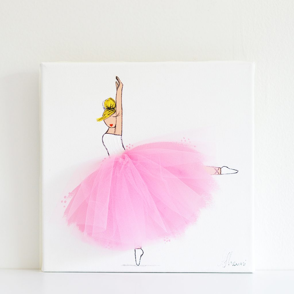 Shenasi Concept Ballerina Art UK Christmas room decor