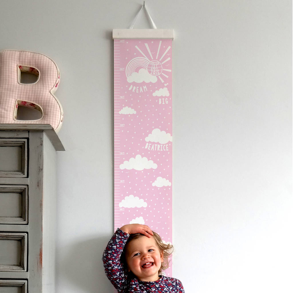 kids growth chart home decor
