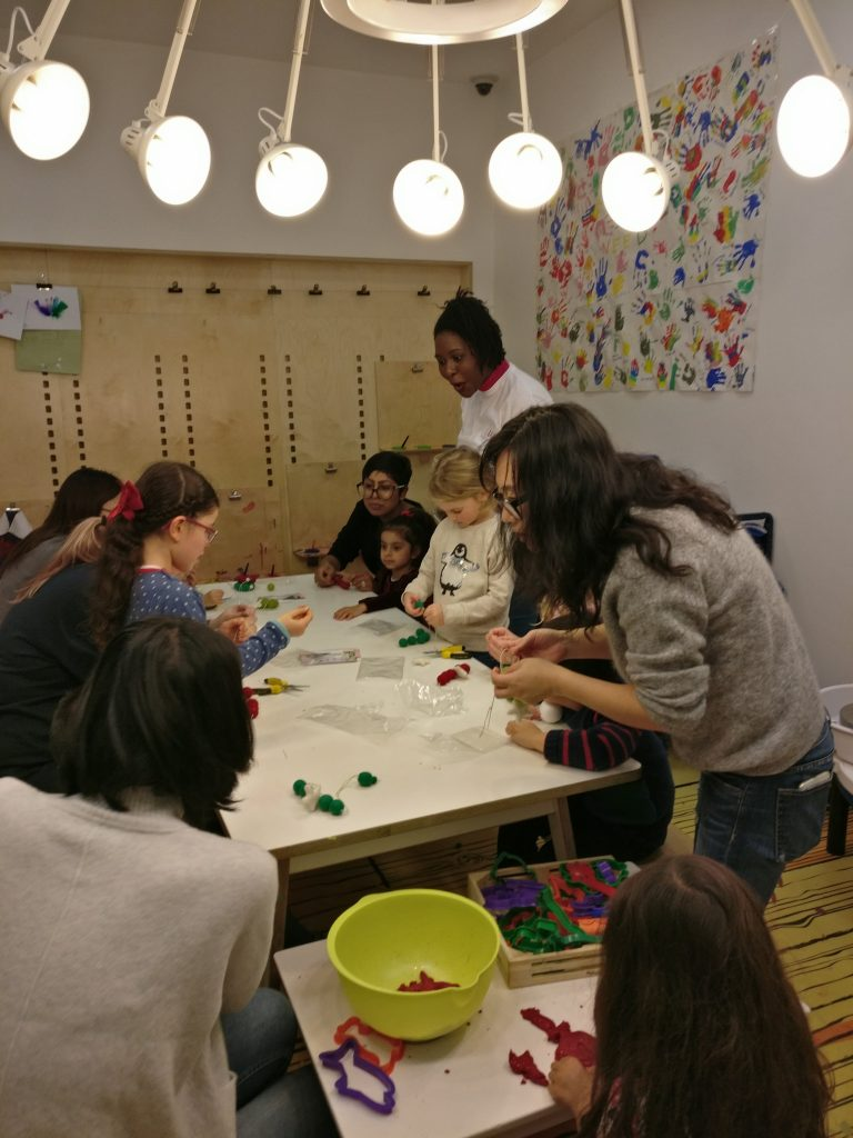MK Kids Interiors at Purple Dragon Play- the wreath making workshop