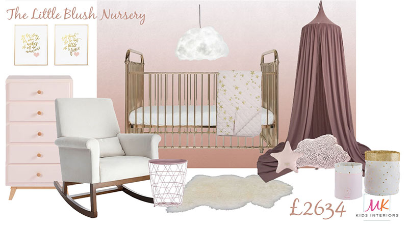 Blush and Gold Mood board_Nursery interior_MK Kids Interiors
