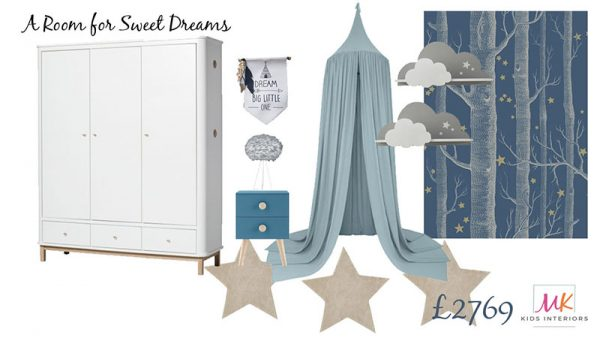 Boys Bedroom Board-A room for sweet dreams-Interior Design for Children-MK Kids Interiors