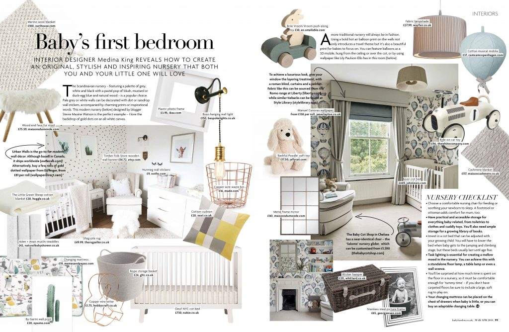 Babys First Nursery by MK Kids Interiors for Baby London Magazine