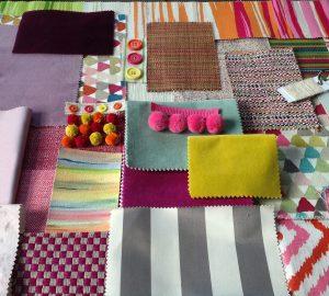 kids interior design workshop- fabrics and wallpapers