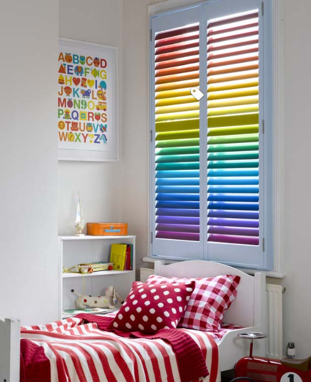 Kids bedroom shutters
