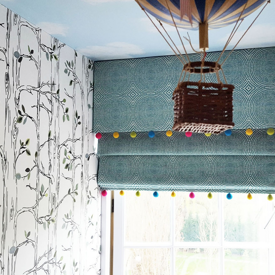 Kids window blinds and curtains
