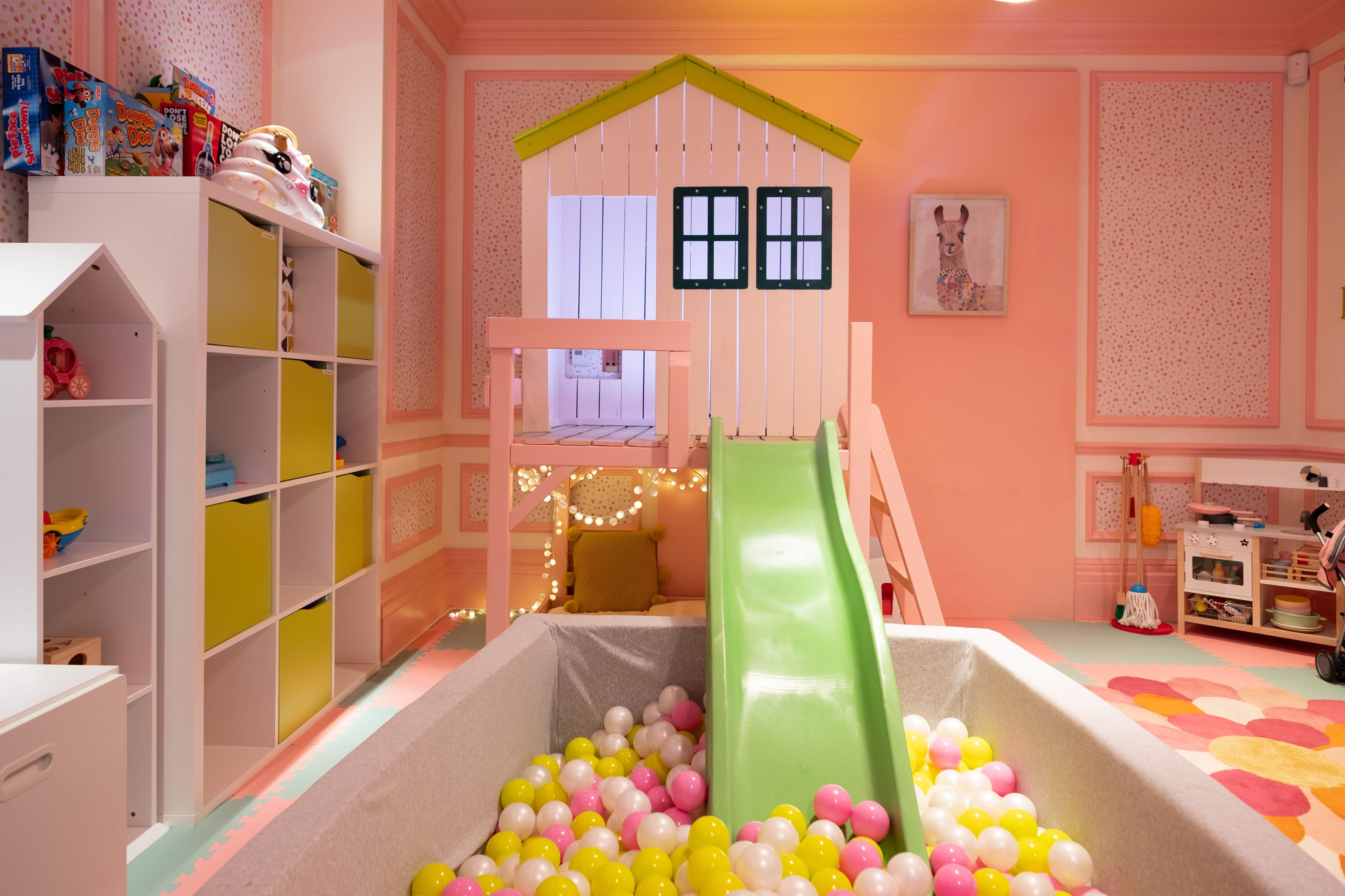 Girls playroom and ball pool