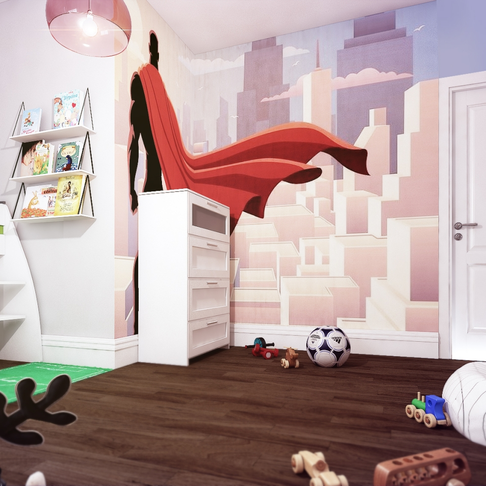 Super Hero Boys bedroom ideas