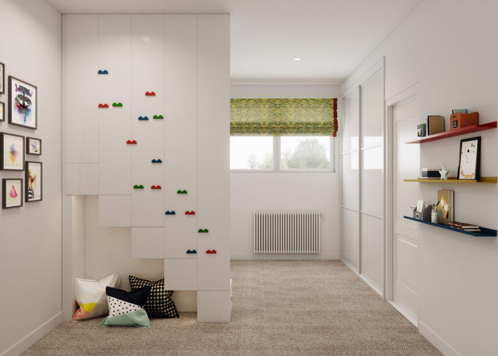 Shared gender neutral kids bedroom