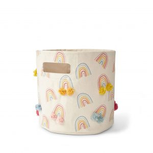 Pehr Design Rainbow Pom Pom Storage Bin MK Kids Interiors