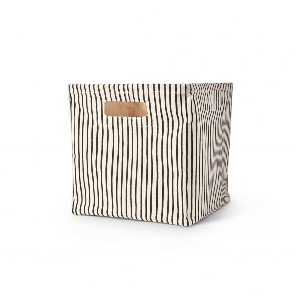 Pehr Design-Stripes Away Cube-Black-MK Kids Interiors-Storage cubes