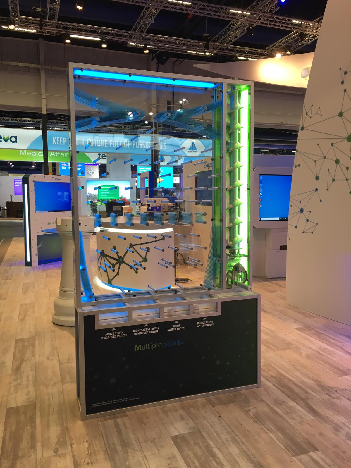 Our soft play balls used Atom for Biogen's exhibition game like pin ball