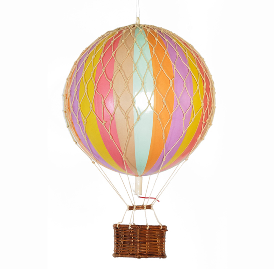 hot air balloon rainbow pastel home